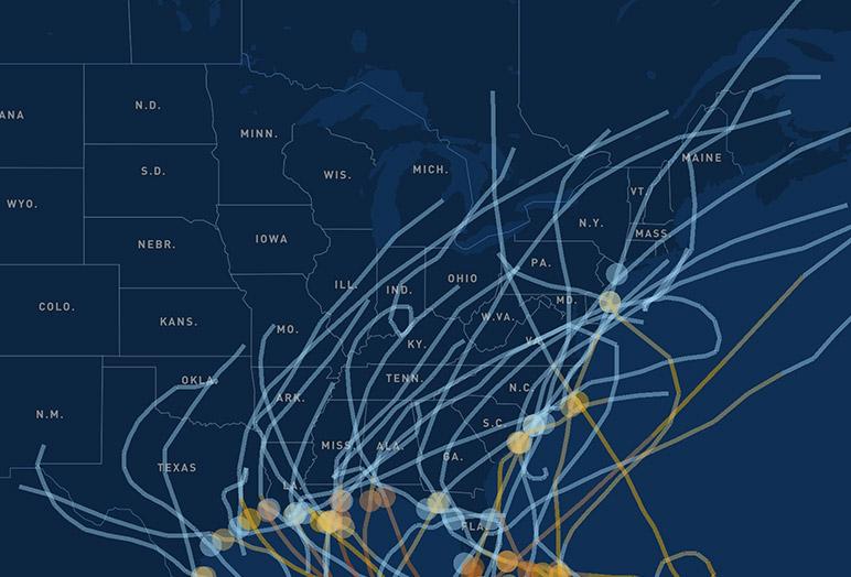 Hurricane Data Visualization Sample