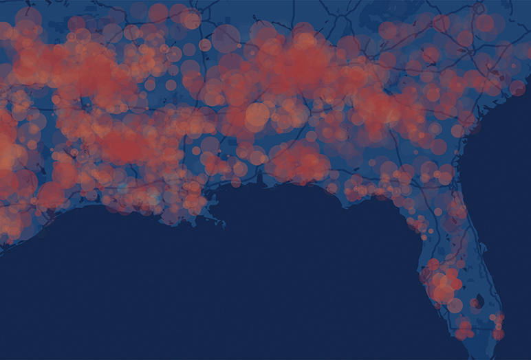 Tornadoes Data Visualization Sample