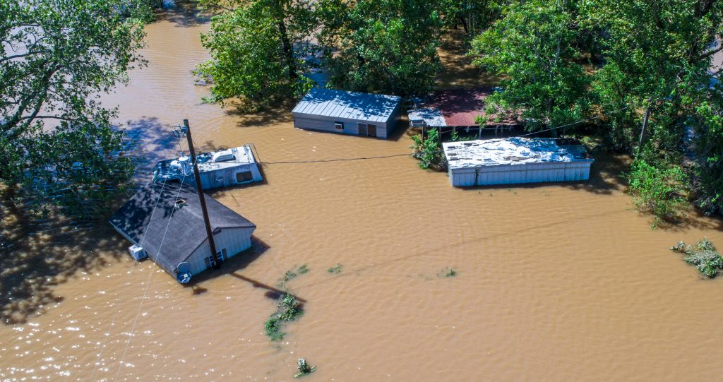 Homes under water after Hurricane Harvey