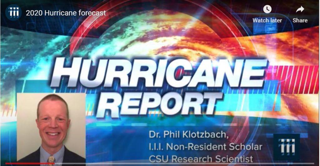 Triple-I non-resident scholar Dr. Phil Klotzbach